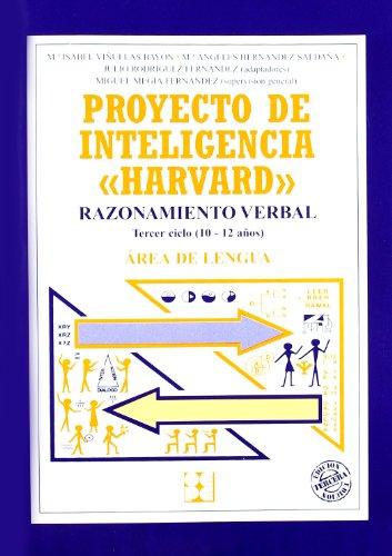 Proyecto de inteligencia harvard. Primaria. Razonamiento verbal (Programas Intervencion Educati) - 9788478693306