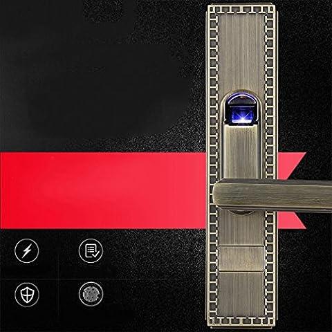 une Serrure à Empreinte Digitale Lion Verrouillage de Porte de Sécurité Serrure Électronique Intelligente Porte Intérieure Porte Intérieure Serrure de Porte,UNE