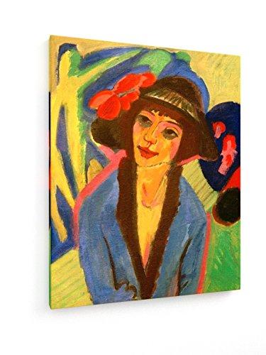 r, Bildnis Gerda - 60x75 cm - Textil-Leinwandbild auf Keilrahmen - Wand-Bild - Kunst, Gemälde, Foto, Bild auf Leinwand - Alte Meister / Museum (1920er Jahren Mode Für Jungen)