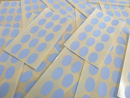 15x10mm Pálido Azul Cielo Forma Ovalada Etiquetas, 150 auta-Adhesivo Código De Color Adhesivos, adhesivo óvalos para Manualidades y Decoración