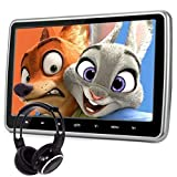 Car Headrest Dvd Player With Wide Screen, Ultr-thin Desgin And USB And SD