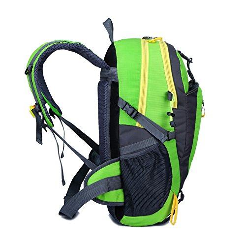 Borse a spalla zaino multifunzionale all'aperto alpinismo borsa impermeabile per il tempo libero , orange Green