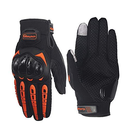 Wenweitrade Outdoor-Handschuhe Touchscreen Anti-Rutsch-Anti-Kollisions-Motorrad Lange Finger Geister Klaue Handschuhe Rennen Motorrad Handschuhe Fahren,Orange,L (Schwarze Klaue Motorrad Handschuhe)
