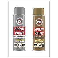 Metallic Silver (x1) & Gold (x1) Spray Paint (250ml) - By PAJEE TM