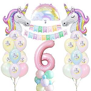 Unicornio Decoración de Cumpleaños 6