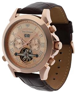 Reloj de caballero Yves Camani YC1020-C automático, correa de piel color marrón de Yves Camani