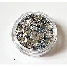 New Nail Art Silber Pailletten Shapes Kreise für Nageldesign Glitter Glitzer Strass Nagelkunst Maniküre Pediküre Einleger Zubehör
