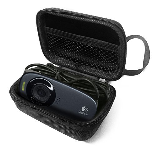 FitSand TM Flip Portable Protective Travel Carry Zipper Sleeve Hard Case Cover Bag Box for Logitech webcam C310  available at amazon for Rs.1449