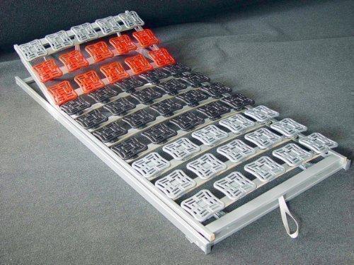 5 Zonen Teller Lattenrost / Tellerfeder Lattenrahmen 80 / 90 x 100 x 190 / 200 cm Kopfteil und Fußteil verstellbar Tellerlattenrost / Tellerlattenrahmen günstig