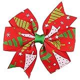 Yvelands Baby Weihnachtsverzierungs-Bowknot-Haarnadel-Kopfschmuck(B,free)