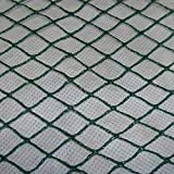 Aquagart® Teichnetz, 5m x 6m, dunkelgrün, engmaschig: Maschenweite 15mm x 15mm, Laubnetz, Teichabdecknetz, Vogelabwehrnetz, Reihernetz robust