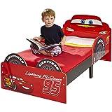 Hello Home Cars Lightning McQueen - Cama infantil, 140 x 70 cm, color rojo