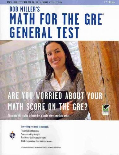 (Bob Miller's Math for the GRE General Test (Green)) By Miller, Bob (Author) Paperback on (05 , 2010)