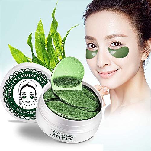 60 stücke Spiral Algen Augenpflege Masken Feuchtigkeitsspendende Feuchtigkeitsspendende Beruhigende Straffende Augenhaut Anti - aging Entfernen Augenringe Unter - Augen - Schwellungen Augenfalten und