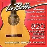 CUERDAS GUITARRA FLAMENCA - La Bella (820) Roja Flamenco (Juego Completo)