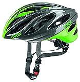 Uvex Erwachsene Boss Race Mountainbikehelm, Gray/Neon Green, 52-56