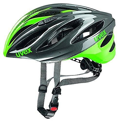 Uvex Erwachsene Boss Race Mountainbikehelm, Gray/Neon Green, 55-60