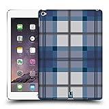 Head Case Designs Blau Grau Plaid - Muster Kollektion Ruckseite Hülle für iPad Air 2 (2014)