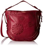 Desigual Bols Marteta New Alexa Ruby WineDati:o Materiale: Outdoor 100% poliuretano, interno 100% poliestereo Dimensioni: Larghezza 38 cm, altezza 30 cm, profondità 17 cmo Colore: Rubino vino (rosso)o Fabbricante: Desigual