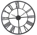 Horloge murale vintage noire Xl - 70...