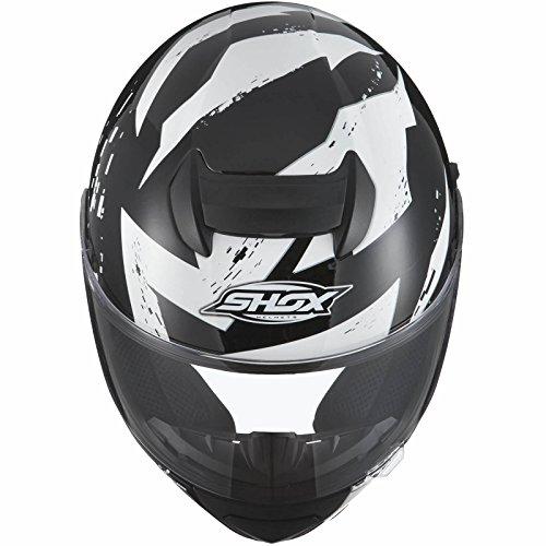 Shox Assault Trigger Motorrad Roller Helm L Schwarz/Weiß - 5