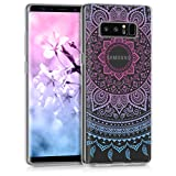 kwmobile Samsung Galaxy Note 8 DUOS Hülle - Handyhülle für Samsung Galaxy Note 8 DUOS - Handy Case in Blau Pink Transparent