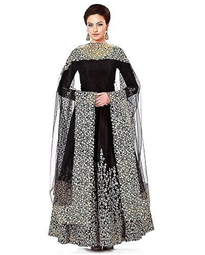 New style fully embridary black gown by Dhruvika enterprise