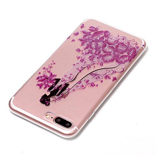 """Coque pour Apple iPhone 7 Plus , IJIA Transparent Scintillement Bling Dreamcatcher TPU Doux Silicone Bumper Case Cover Shell Housse Etui pour Apple iPhone 7 Plus (5.5"""") XS66"""
