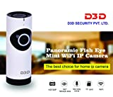#10: D3D Wireless Fisheye Vision 180° Panoramic IP Camera CCTV Security Home Surveillance Camera (support upto 128 GB SD card) (white Color)