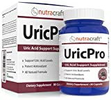 UricPro Uric Acid Cleanse Supplement With Black Cherry Extract, Devils Claw & White Willow Bark - Natural Inflammation Support - 90 Capsules by Nutracraft
