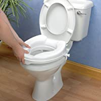 """4"""" RAISED TOILET SEAT WITH LID EASY TO FIT Gives extra height to wc"""