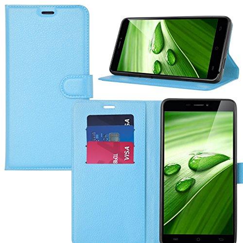 Ulefone Power 2 Hülle, KuGi Ulefone Power 2 Premium PU Leder Einschließlich rücksichtsvoller Gestaltung des magnetischen Teils Hülle Hülle Handyhülle für Ulefone Power 2 Smartphone (Blau)