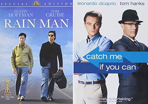 2 Greats DVD Catch Me If You Can Tom Hanks Leonardo DiCaprio & Rain Man Tom Cruise Dustin Hoffman Double Feature