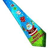 Noël cravate Homme, Moonuy Noël Santa arbre renne imprimer cravate florale Noël Halloween fête cravate tie (H)