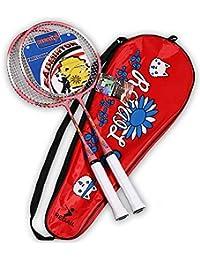 Badminton Raqueta Niños Raqueta Junior para Deportes Al Aire Libre De Interior Juego 1 Par,Blue