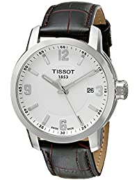 Tissot Men's 42mm Brown Calfskin Stainless Steel Case Date Watch T0554101601701