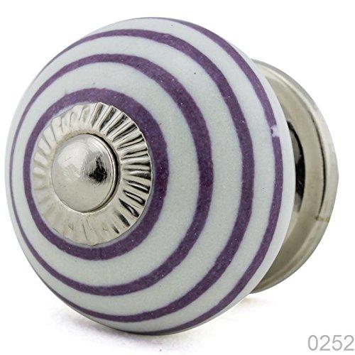Insel Bauernhof (Keramik Vintage Möbelknopf Nr 0252 Jay Knopf 7 lila violett blau 1074-E R3-109 lila K3 Shabby Chic Retro Porzellan Griff Knauf)