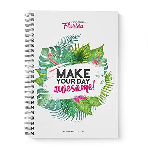 """TO DO Liste - Tages-Planer""""Florida"""" · Wochen- Tages- Projektplaner zum Abhaken mit TO DO Liste · DIN A5 100 Seiten, liniert, bunt"""