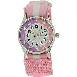 Reflex Time Teacher Pink & White Velcro Strap Girls Childrens Watch REFK0005