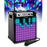 Ion Audio Party Rocker Max - Altavoz recargable con cúpula de luces de fiesta y rejilla