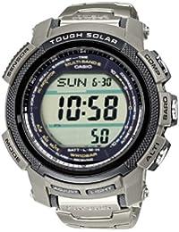 CASIO PRO TREK PRW-2000T-7ER - Reloj unisex de cuarzo, correa de titanio color plata