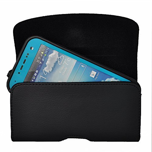 kuteck® Schwarz Gürtel Leder Holster Tasche Clip Passt für Samsung Galaxy S4 S3 OtterBox/Lifeproof/Mophie Juice Pack Air/Plus Fall auf. Inkl. Schwarzer Eingabestift (Fall S4 Samsung Galaxy Lifeproof)