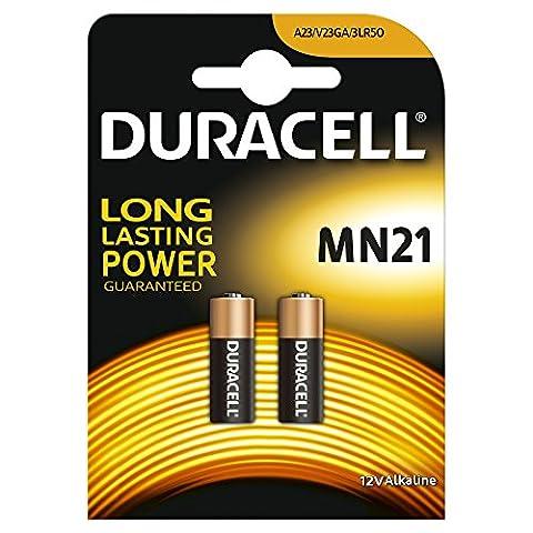 Duracell Piles Spéciales Bouton Lithium type MN21, Lot de 2