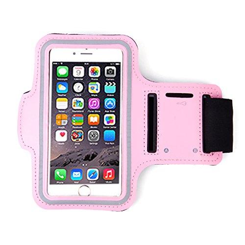 Armband Tasche Handytasche Schutz Huelle Beutel Fitness Sport f. Samsung S7 S6 S5 S4 Gymnastik oder 4,7 bis 5,1 Zoll mit Schluesselring 6 Farben