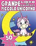 IL GRANDE LIBRO DA COLORARE DEL PICCOLO UNICORNO: Libro da Colorare per Bambini del Piccolo Unicorno