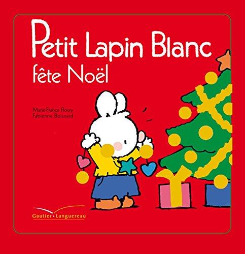 Petit lapin blanc fête Noël