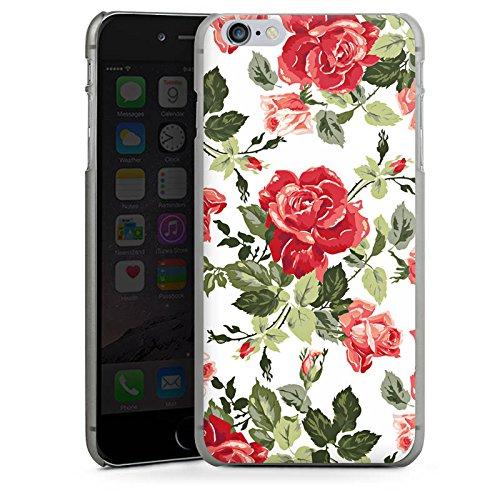 Apple iPhone X Silikon Hülle Case Schutzhülle Rosen Frühling Blüten Hard Case anthrazit-klar