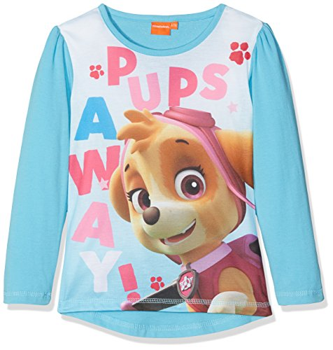 Paw patrol ls t-shirt, maglia a maniche lunghe bambina, turchese (turquoise), 5 anni