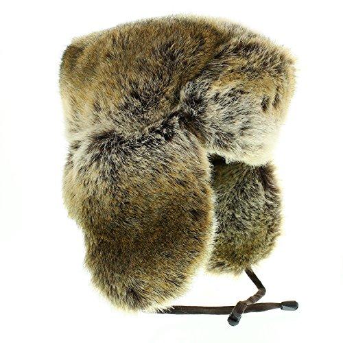 votrechapeau - Chapka - Chapeau en fausse fourrure - Wild - Beige - Tour de tête 57 - 58