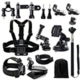 Iextreme Accessory Kit for GoPro Hero5/4/3/2/1 Accessories Bundle for SJCAM SJ4000 SJ5000 SJ6000 SJ7000, Sports Camera Accessory Set in Outdoor Sports
